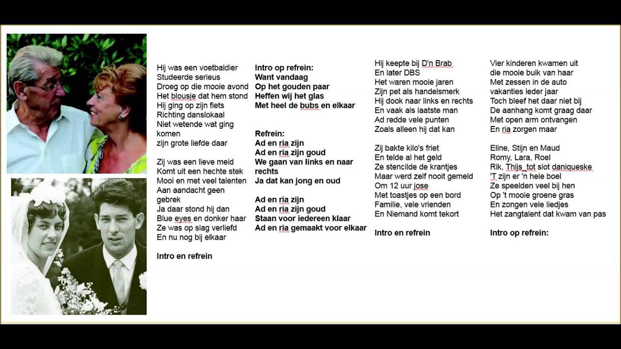 lied voor 50 jaar getrouwd Lied : Ad en Ria Zijn (mallebabbe)   YouTube lied voor 50 jaar getrouwd