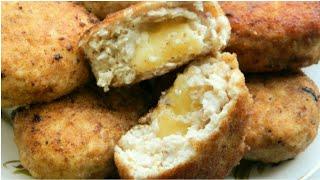 Котлеты куриные с сыром внутри. / Котлети курячі з сиром всередині