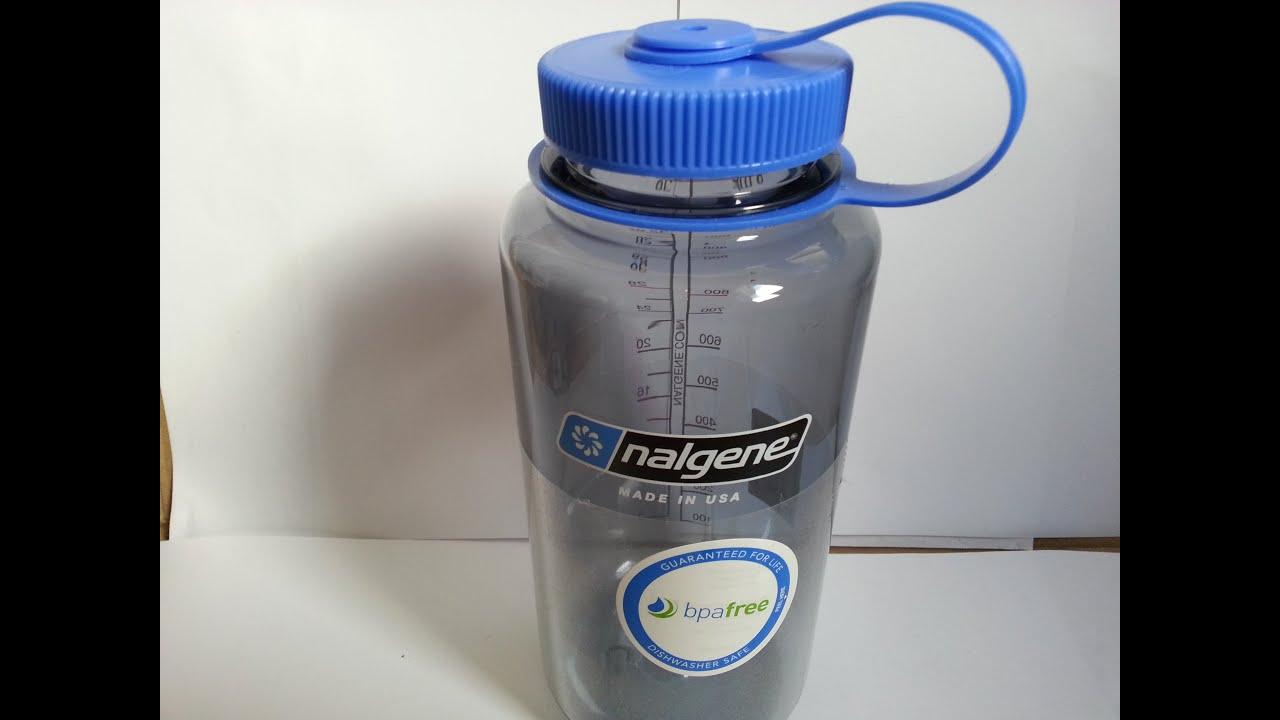 8177b8f04c77 Nalgene Wide Mouth Grey Tritan Water Bottle 32 Oz 1L