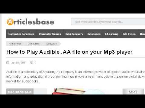 How-To Play MP3's On An Audible Player