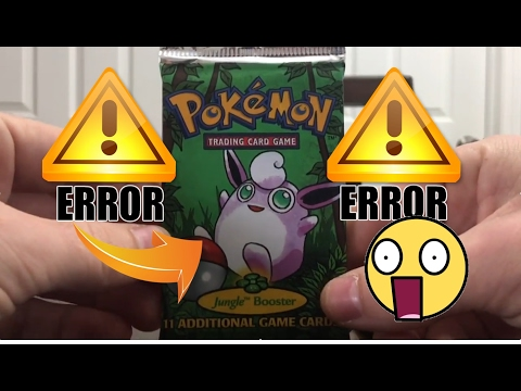 ERROR POKEMON CARDS!!!???  3X Jungle Pokemon Booster Pack Opening !