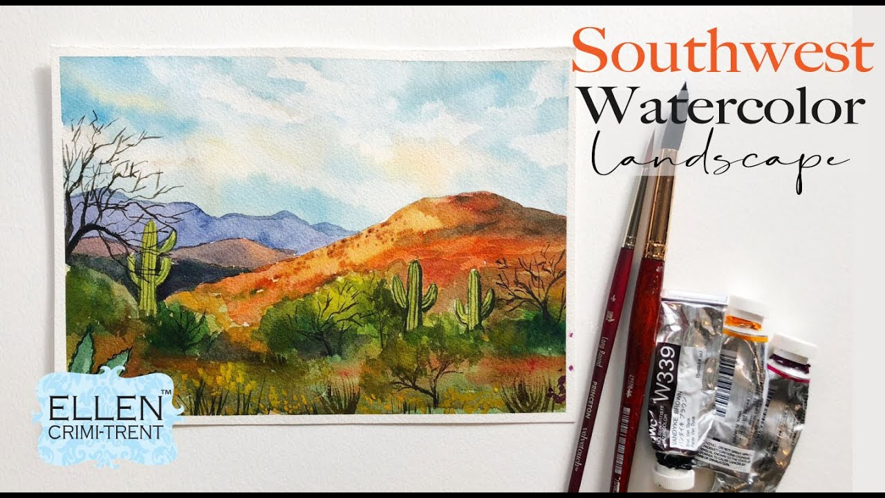 Southwest Watercolor Landscape Tutorial