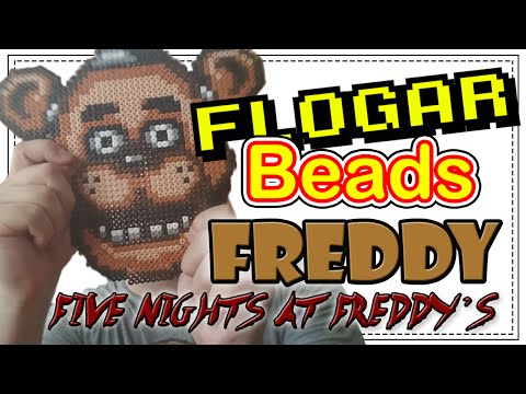 FREDDY (FNAF) - DIY- Tutorial Pearl/Hama Beads para Gamers - FloGar o.O
