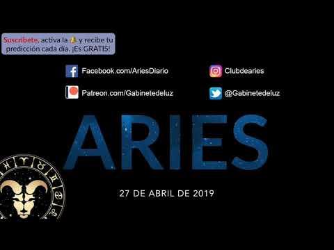 Horóscopo Diario - Aries - 27 de Abril de 2019