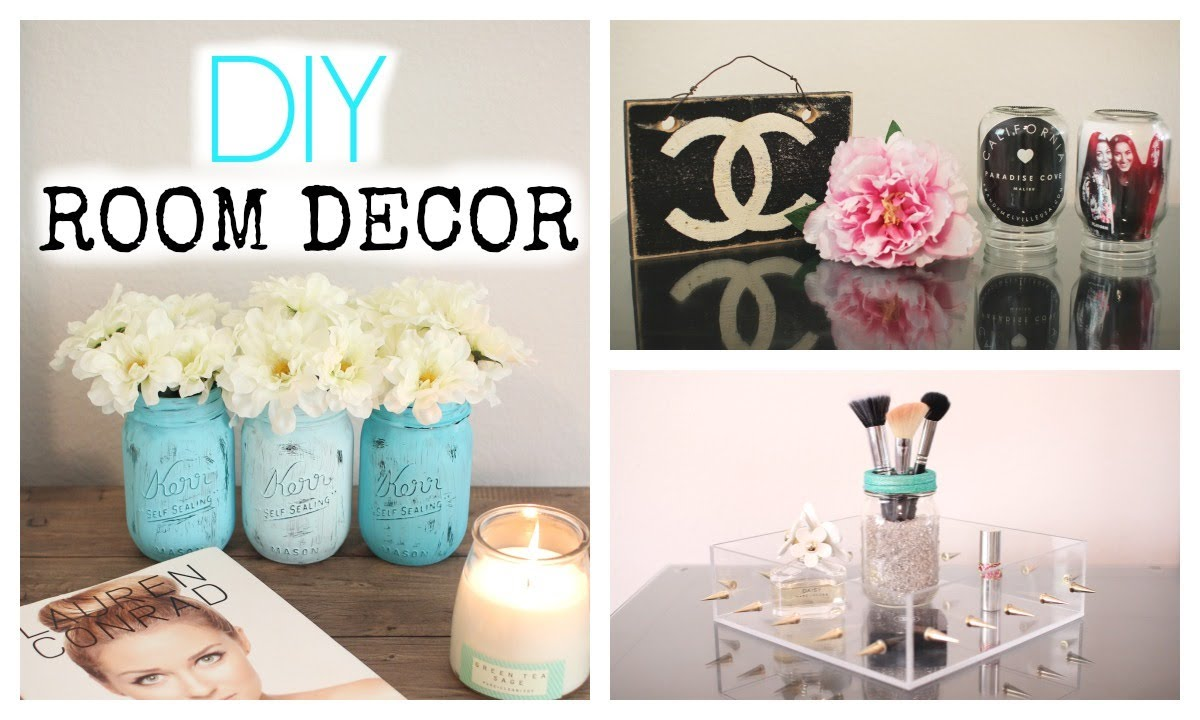 Diy mason jar room decor cute affordable youtube for Cute diy bedroom ideas