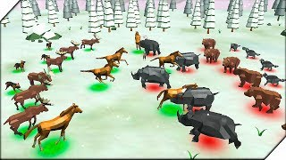 СИМУЛЯТОР БИТВЫ ЖИВОТНЫХ - Игра Animal Kingdom Battle Simulator 3D