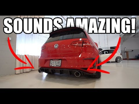 New Ecs Tuning Prototype Mk7 Gti Exhaust!! Ft. Shop Tour