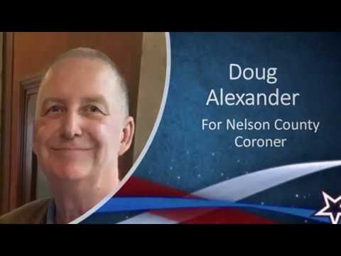 Doug Alexander for Nelson County Coroner 2018