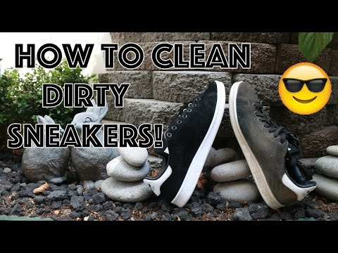 HOW TO CLEAN DIRTY SNEAKERS! (ALL MATERIALS)