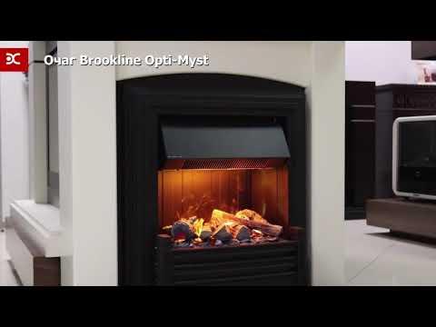 Brookline Black Электрический Очаг Dimplex. Видео 3
