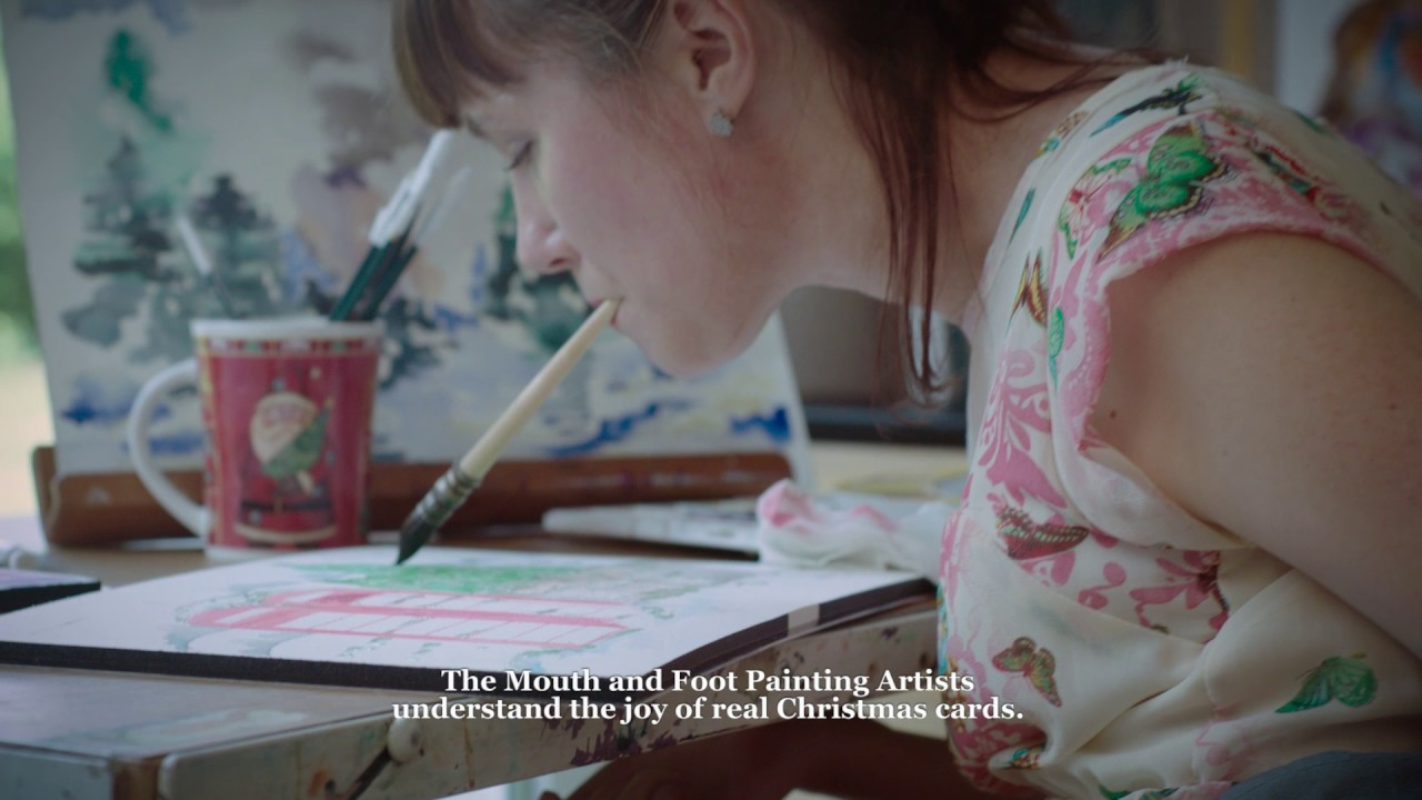 The Mouth And Foot Painting Artists Launch Campaign To Save The Christmas Card Youtube