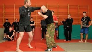 Рукопашный бой S.P.A.S. - удары ладонями, жесткие комбинации. (street fighting)