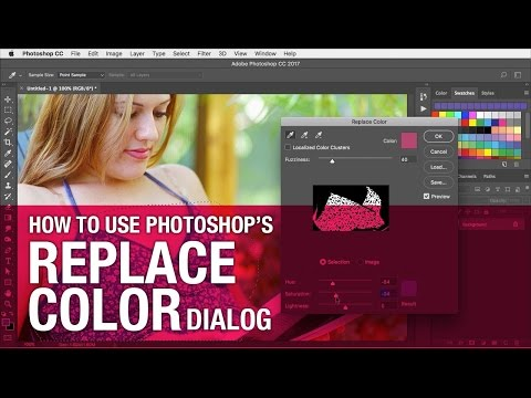 How to use the Replace Color dialog – 2 minute Photoshop