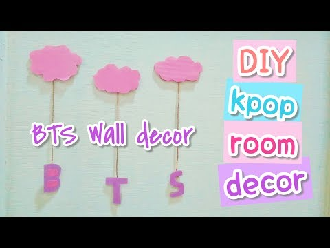 DIY KPOP ROOM DECOR #2   BTS WALL DECOR