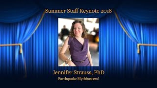 """""""Earthquake Mythbusters!"""" with Jennifer Strauss, PhD"""
