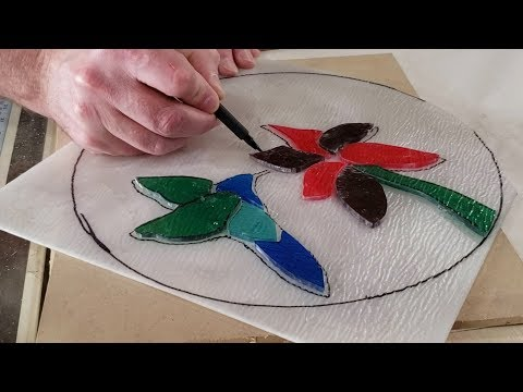 DIY Stained Glass / How To Make Stained Glass Mosaic With Resin