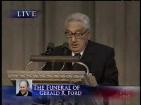Gerald R Ford Funeral Henry Kissinger Speech Youtube