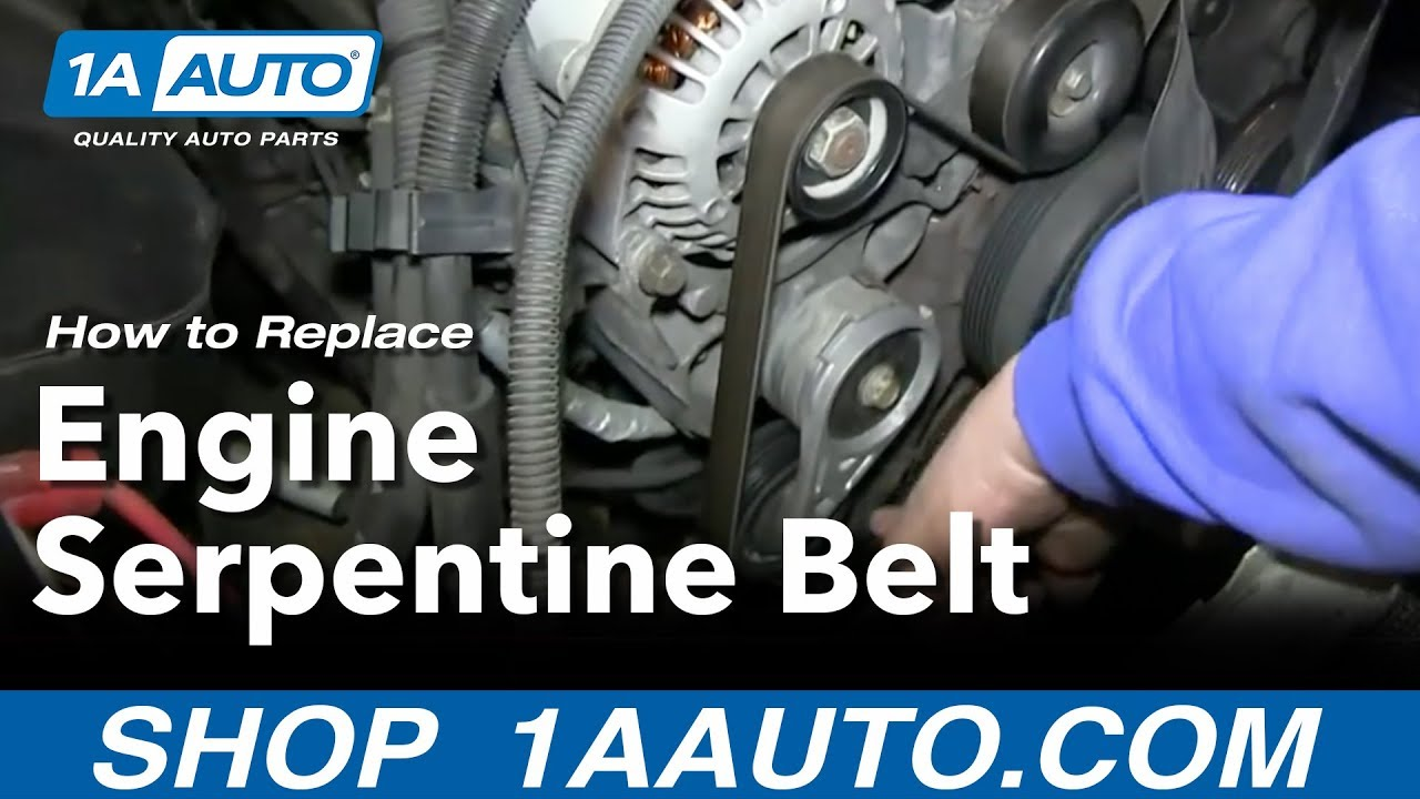 medium resolution of how to replace serpentine belt 95 98 chevy tahoe