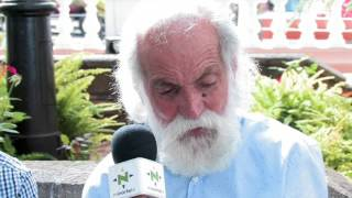 Con el Templete a rastro - Santiago Pérez (Concejal de Fiestas de Santa Úrsula)