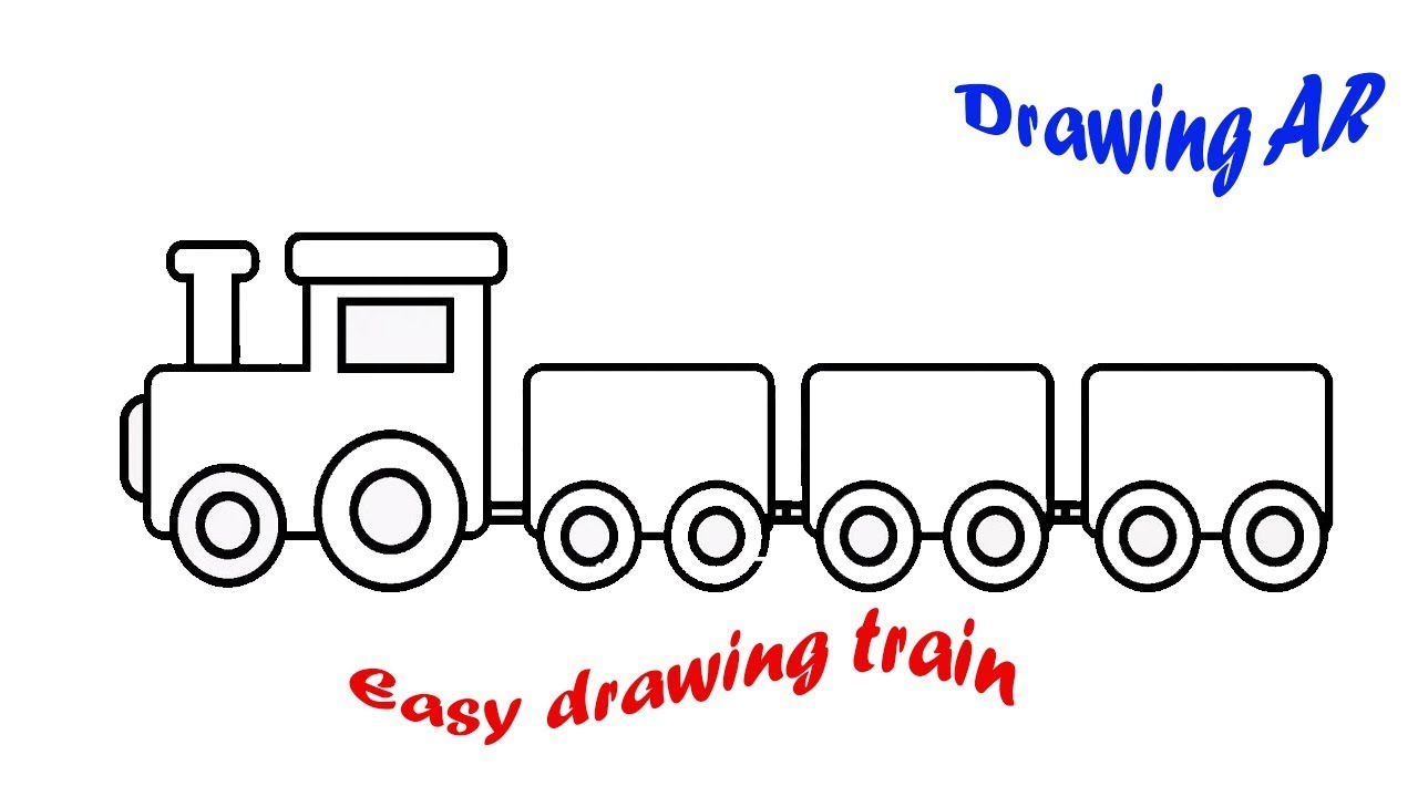 How To Draw Kids Train Learn Drawing Coloring Toy Easy Way Step By Step For Kids Drawing Ar Youtube