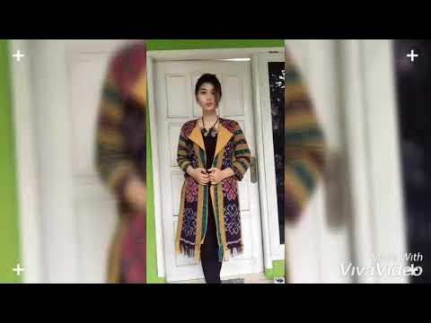 Tenun Troso Model Baju Gamis Kombinasi Kain Tenun Hijabfest