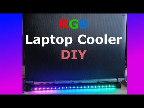 RGB Laptop Cooler / Stand    DIY