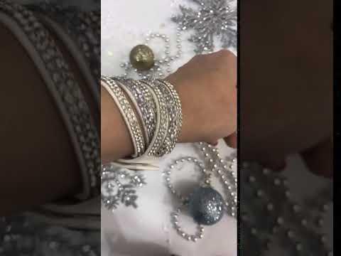 Красивый белый браслет Сваровски - сделай себе подарок!