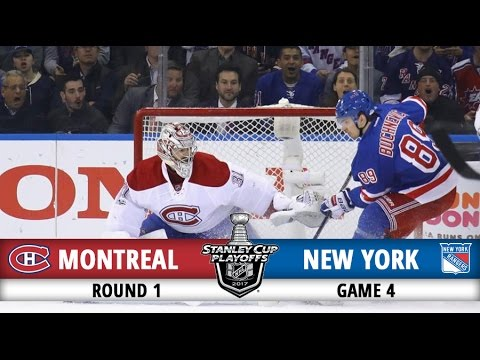 Montreal Canadiens vs New York Rangers | Round 1 Game 4 | 2017 Playoffs Highlights