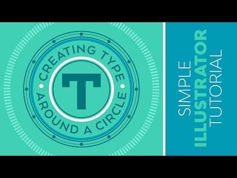Creating Type Around A Circle In Adobe Illustrator - Simple Design Tutorial.