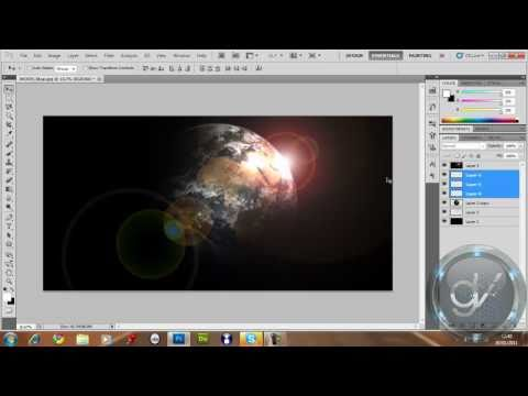 How To Make a Solar Eclipse Over The Earth / In Adobe Photoshop CS5.