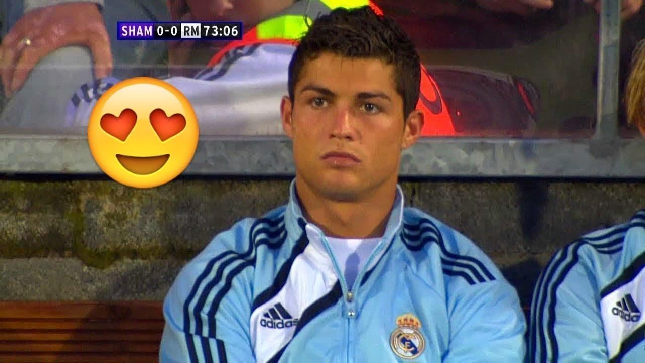 أول مباراة لكريستيانو رونالدو مع ريال مدريد 🔥 مهارات رونالدو