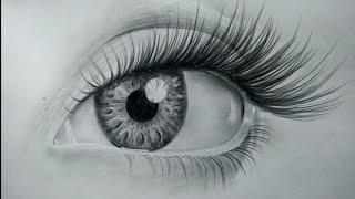 realistic eye step easy drawing drawings sketch eyes draw tutorial pencil sketches simple tutorials 3d paintingvalley dexter sketching paintings