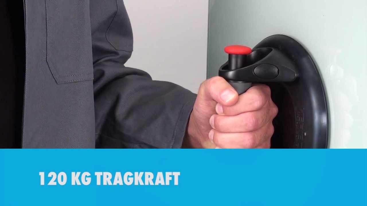 Saugnapf-Befestigung 115mm extra Stark Glasheber Saugheber Vakuumbefestigung