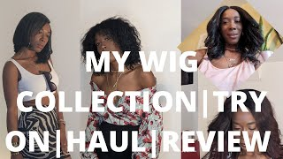MY WIG COLLECTION  TRY ON  HAUL  REVIEW