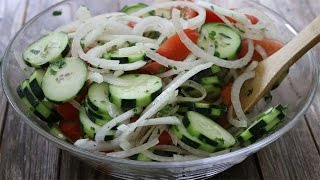 How to Make Summer Tomato, Onion & Cucumber Salad