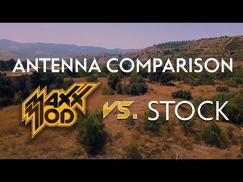 DJI Mavic Antenna Range LIVE Comparison: Mavic MaXX Mod VS Mavic Stock Antenna