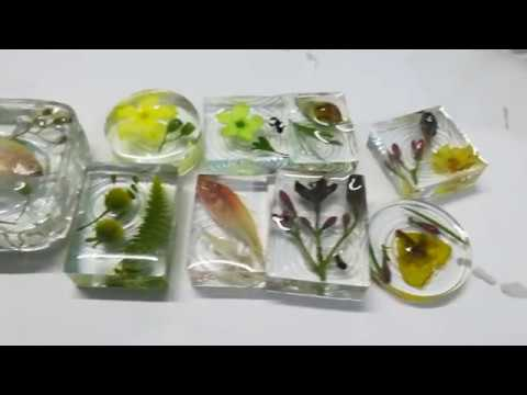DIY: Flower, Insect, Small fish casting in Epoxy Resin using Silicone Mould/ India