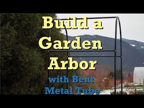 Build a Garden Arbor with Bent Metal Tube