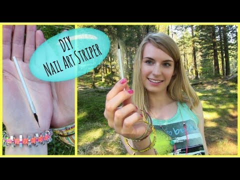 DIY Nail Art Brush! How to Make a Nail Art Striper Brush - DIY Nail Art Tools