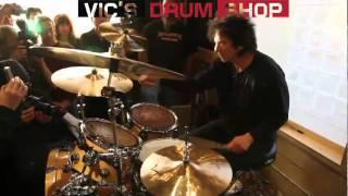 Terry Bozzio at Vics Drum Shop Terry Bozzio.mov