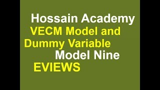 vecm model and dummy variable model nine eviews