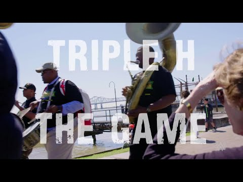 Triple H's theme played by New Orleans brass band