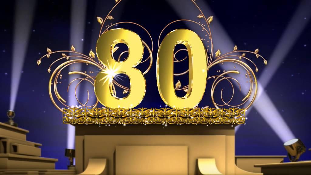 Праздничные футажи с цифрами - 80 - YouTube