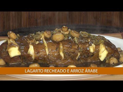 LAGARTO RECHEADO E ARROZ ÁRABE