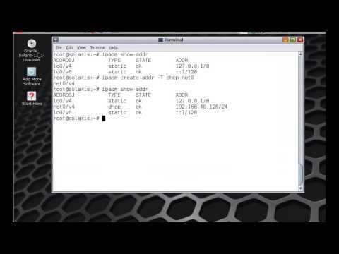 Solaris 11 Network Configuration With Ipadm