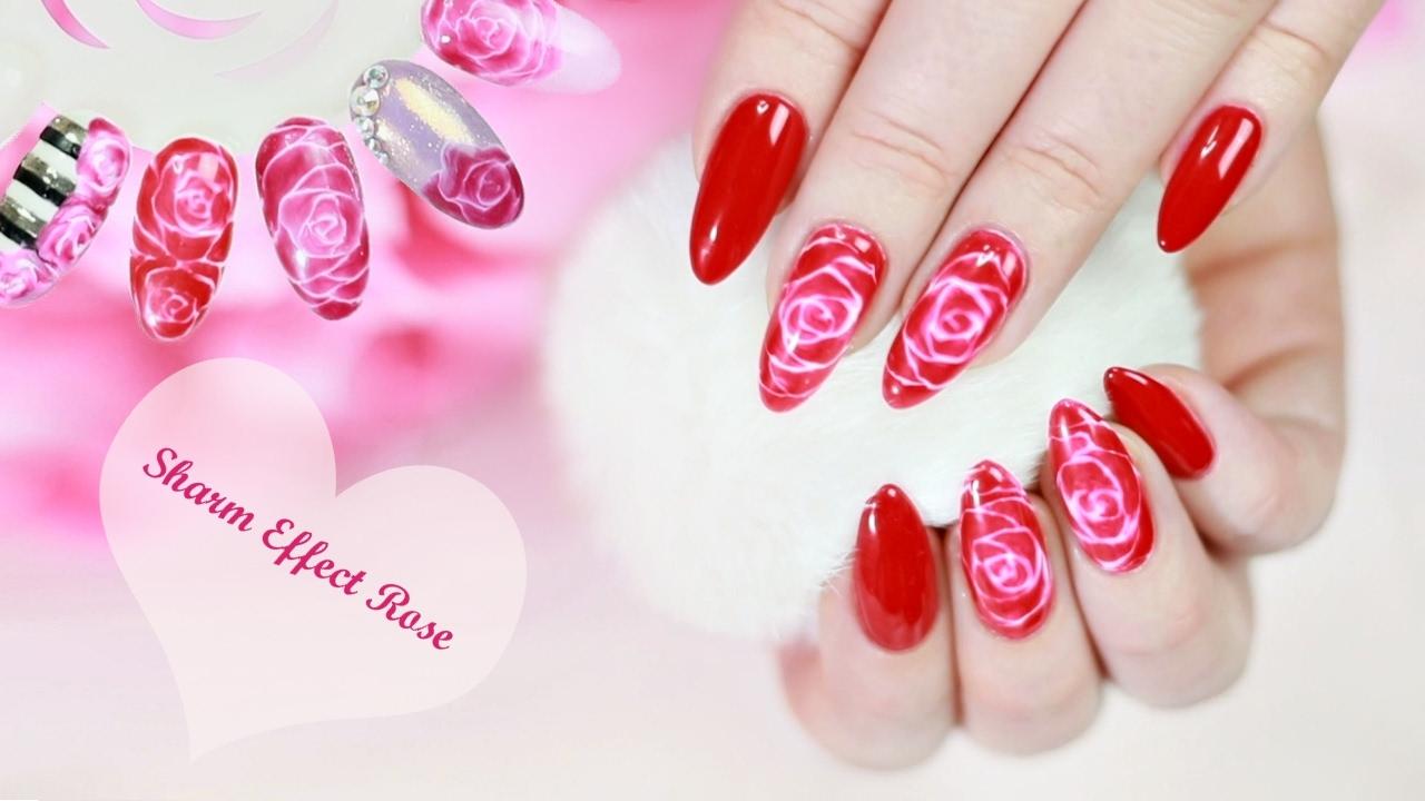 Hybrydy Walentynkowe Paznokcie Z Motywem Róży Sharm Effect