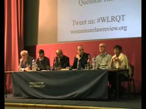 Westminster Law Review Question Time (Part 1)