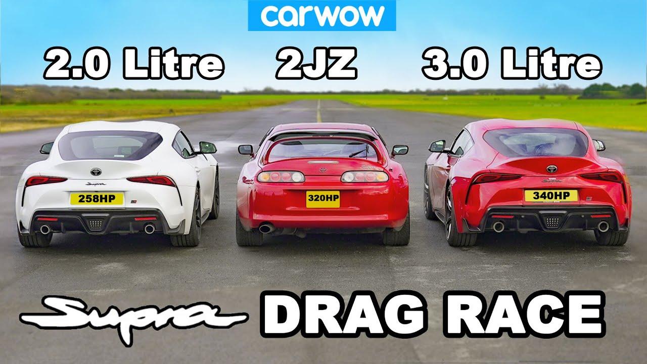 Supra DRAG RACE: 3.0 v 2.0 v Mk4!