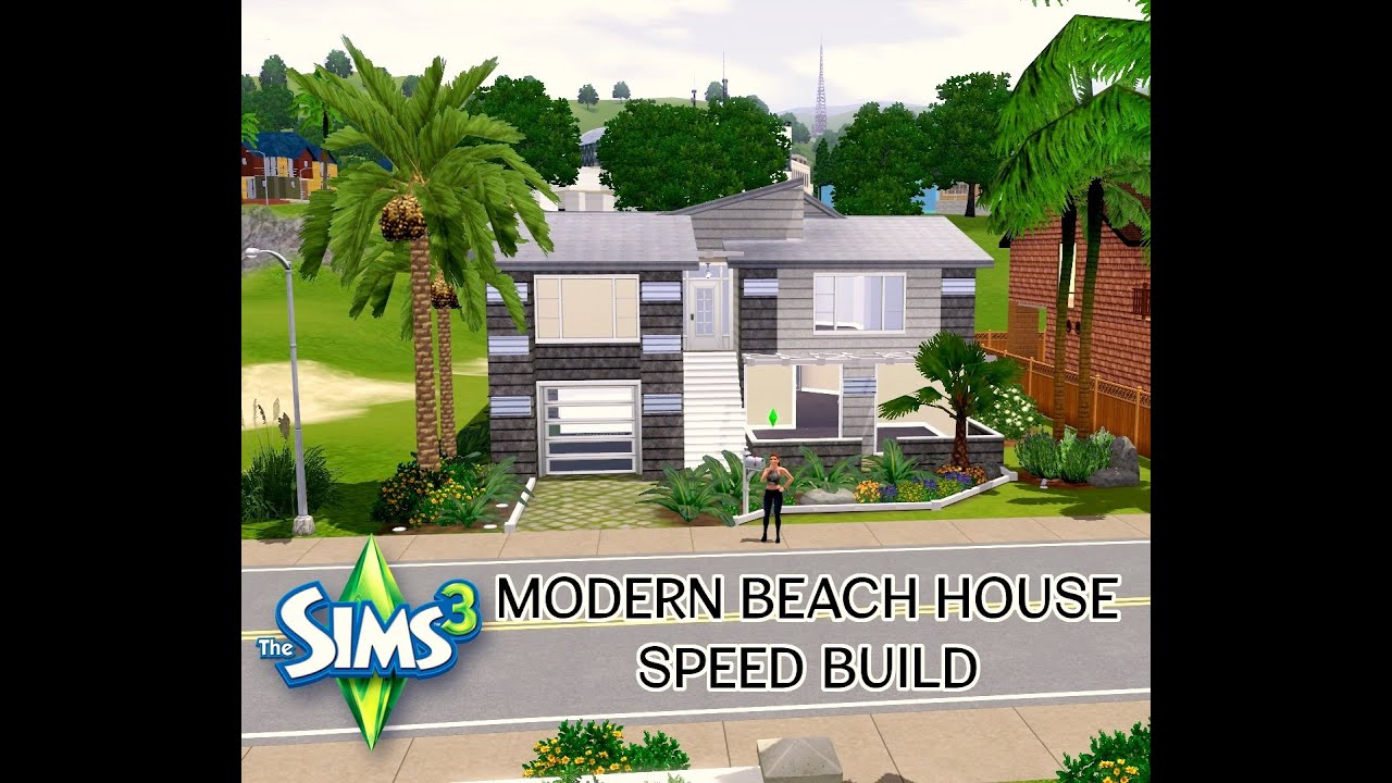 how to build a modern house on the sims