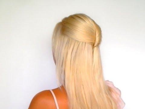 half up half down hairstyles for medium long hair tutorial elegant home ing wedding hairdo